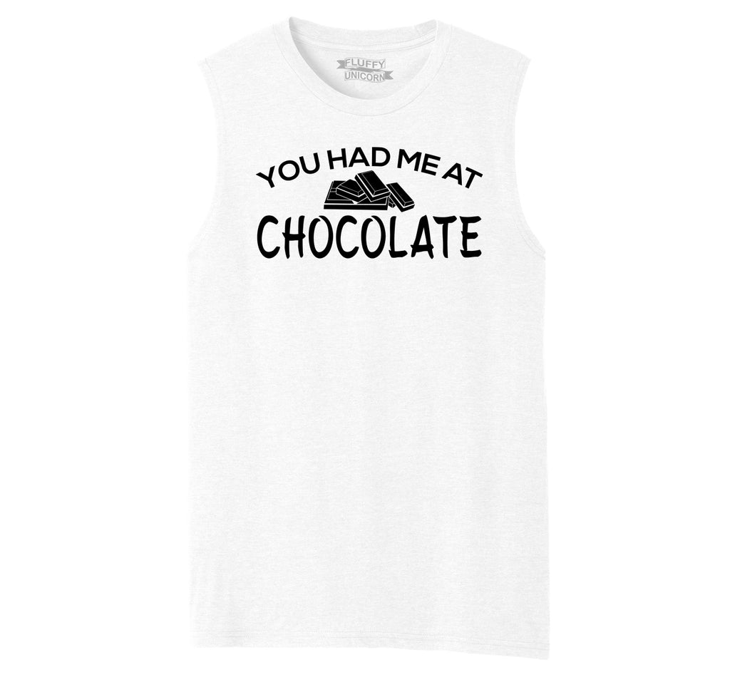 You Had Me At Chocolate Funny Tee Valentines Day Gift Tee Mens Muscle Tank Muscle Tee