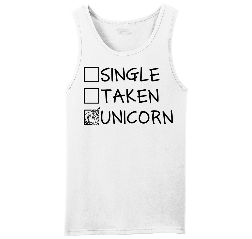 Single Taken Unicorn Mens Sleeveless Tank Top