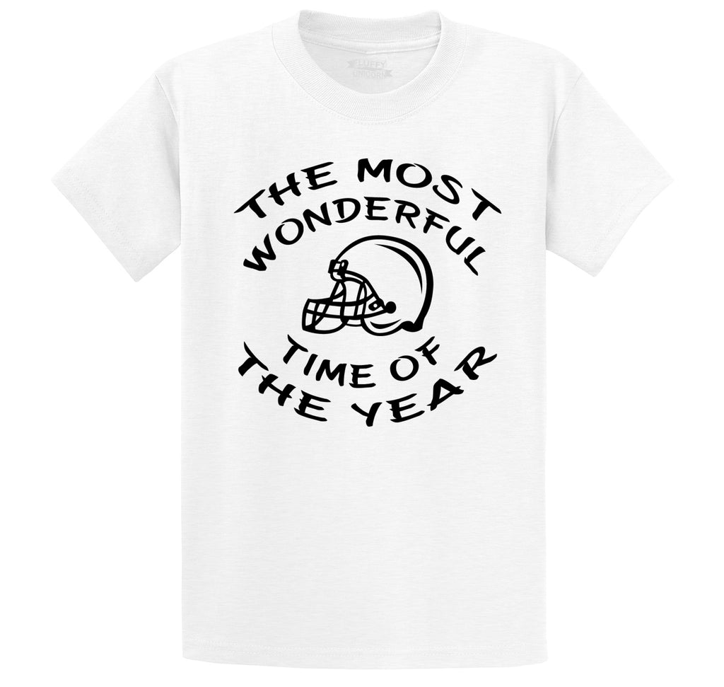 The Most Wonderful Time Of The Year Football Men's Heavyweight Big & Tall Cotton Tee Shirt