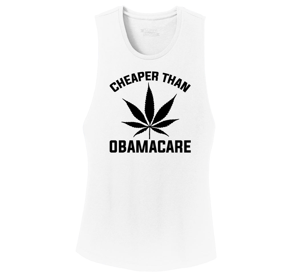 Marijuana - Cheaper Than ObamaCare Ladies Festival Tank Top