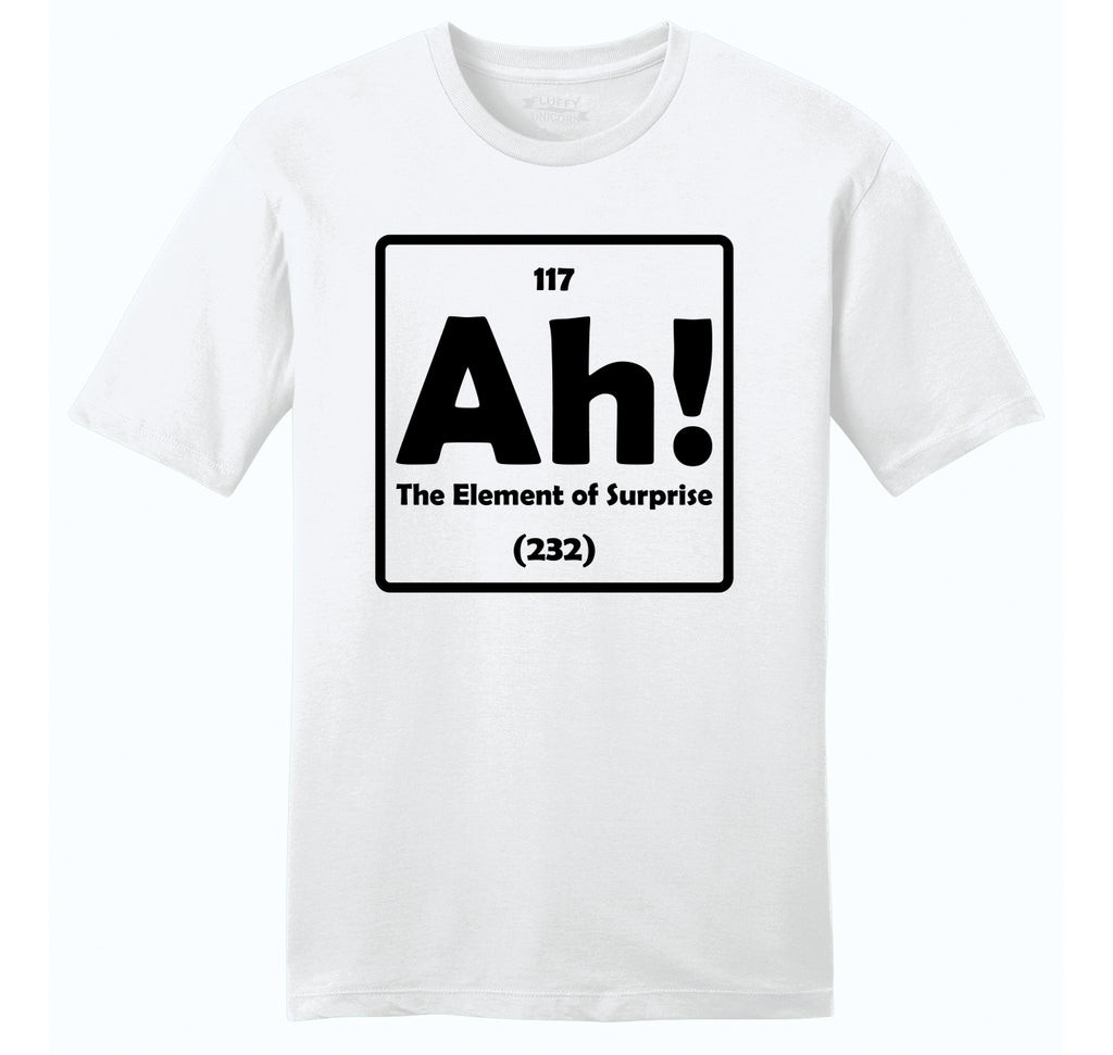 Ah! The Element Of Surprise Mens Ringspun Cotton Tee Shirt