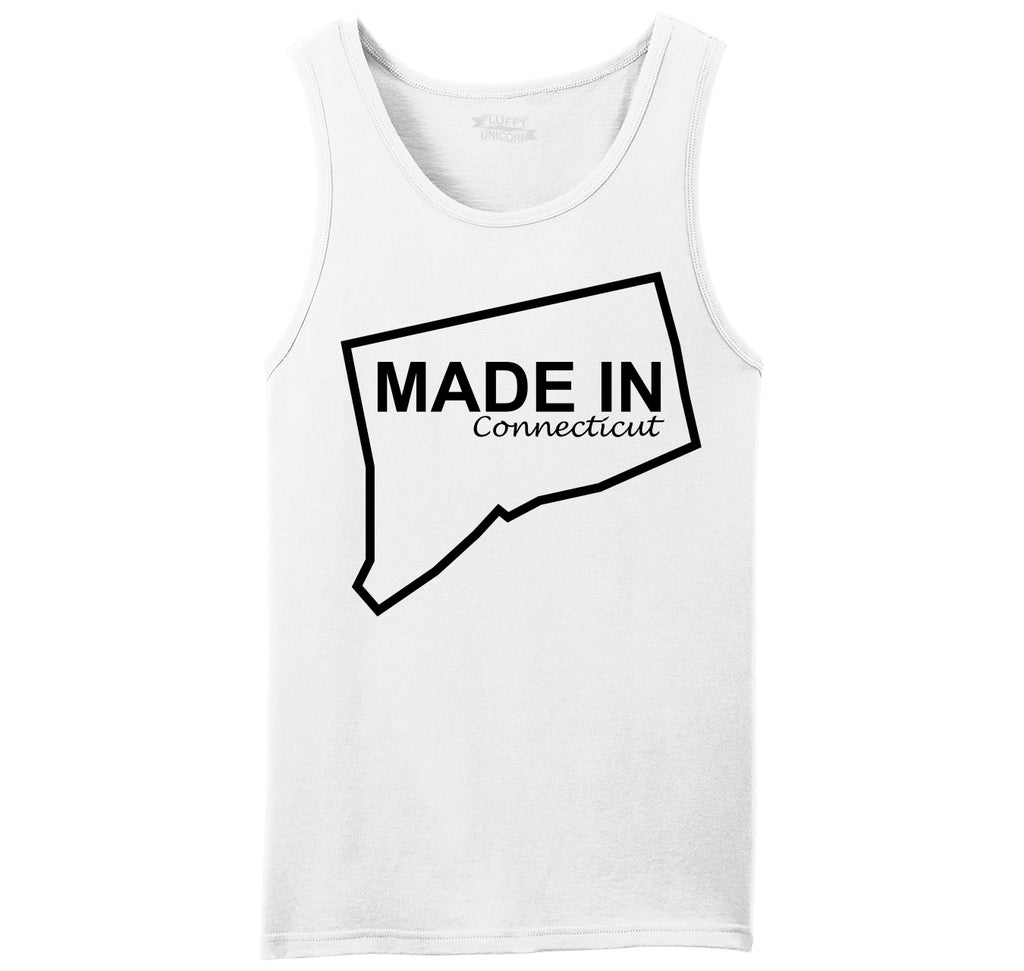 Made In Connecticut Cute Home State Pride Tee Mens Sleeveless Tank Top