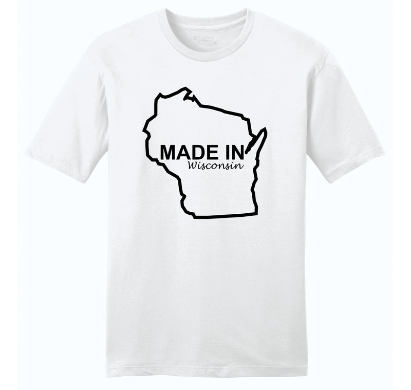 Made In Wisconsin Mens Ringspun Cotton Tee Shirt