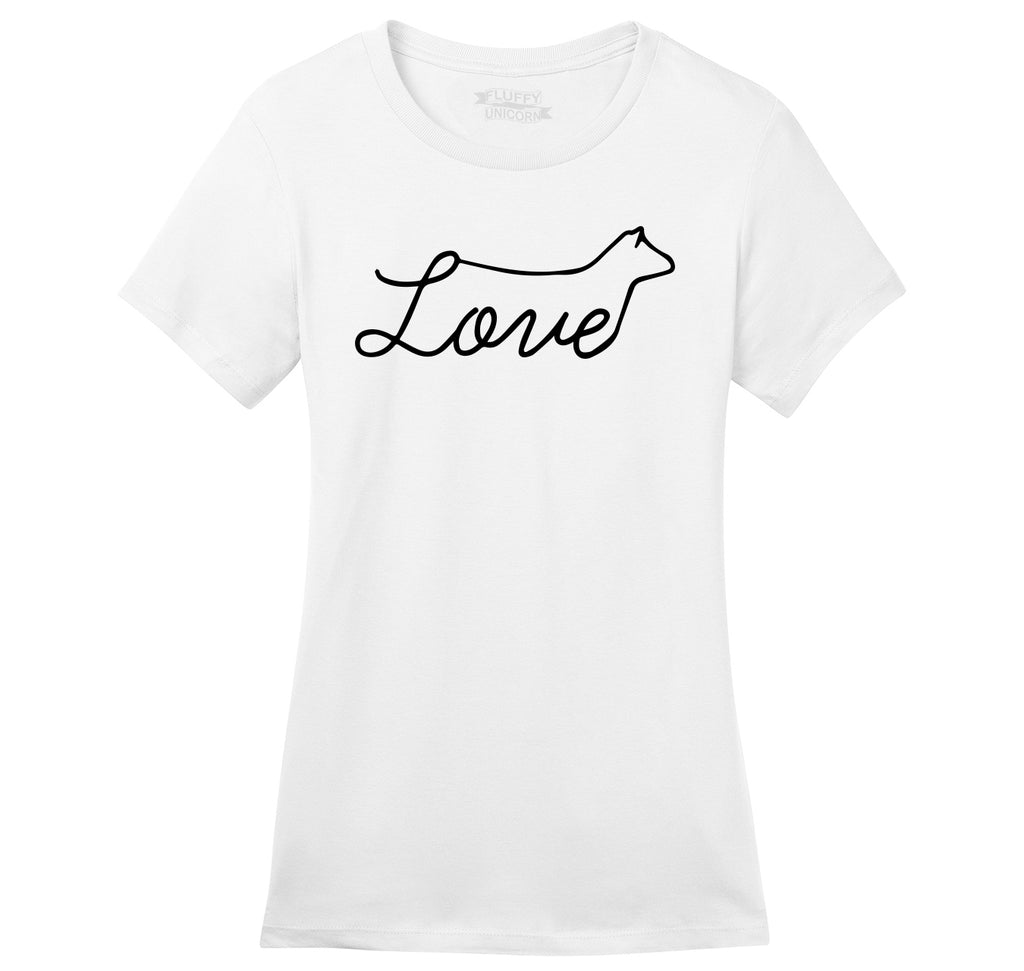 Love Cow Ladies Ringspun Short Sleeve Tee