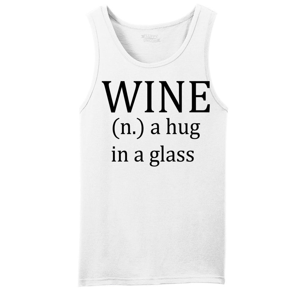 Wine A Hug In A Glass Mens Sleeveless Tank Top