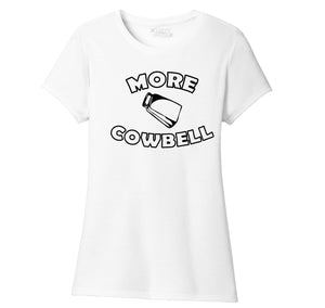 More Cowbell Ladies Short Sleeve Tri-Blend Shirt