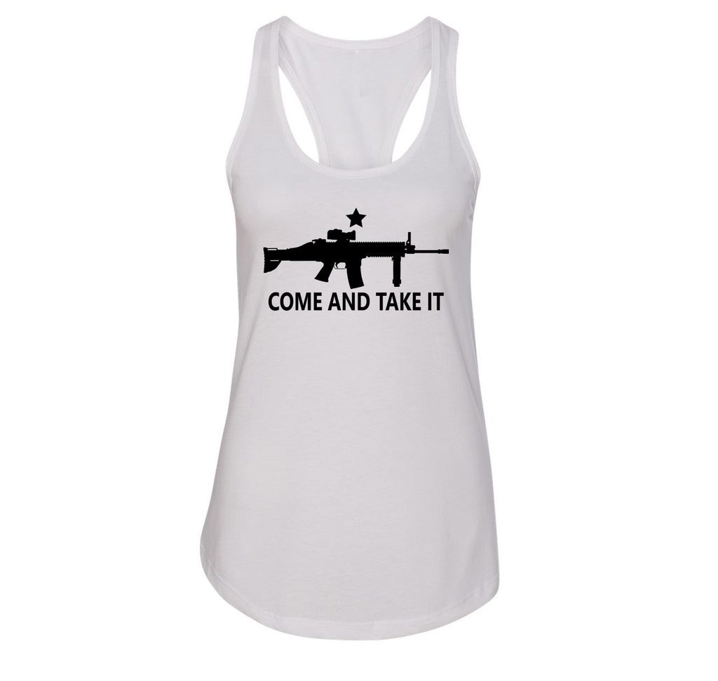 Come And Take It T Shirt Gun Lover Ar15 Rights 2nd Amendment Gift Tee Ladies Racerback Tank Top