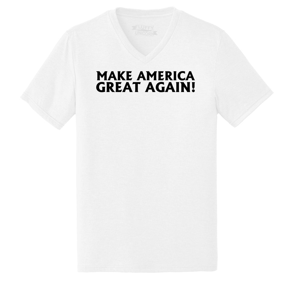 Make America Great Again Mens Tri-Blend V-Neck Tee Shirt
