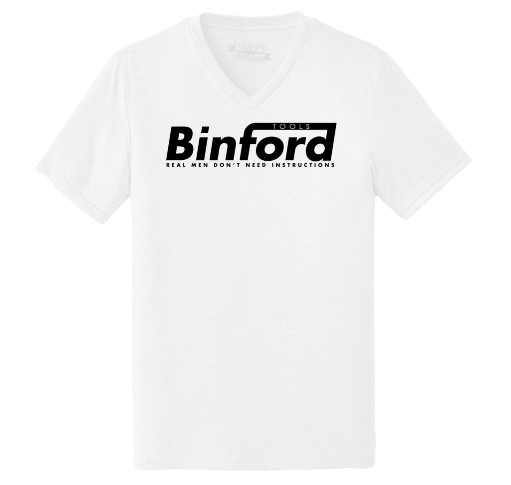Binford Tools Don't Need Instructions Mens Tri-Blend V-Neck Tee Shirt