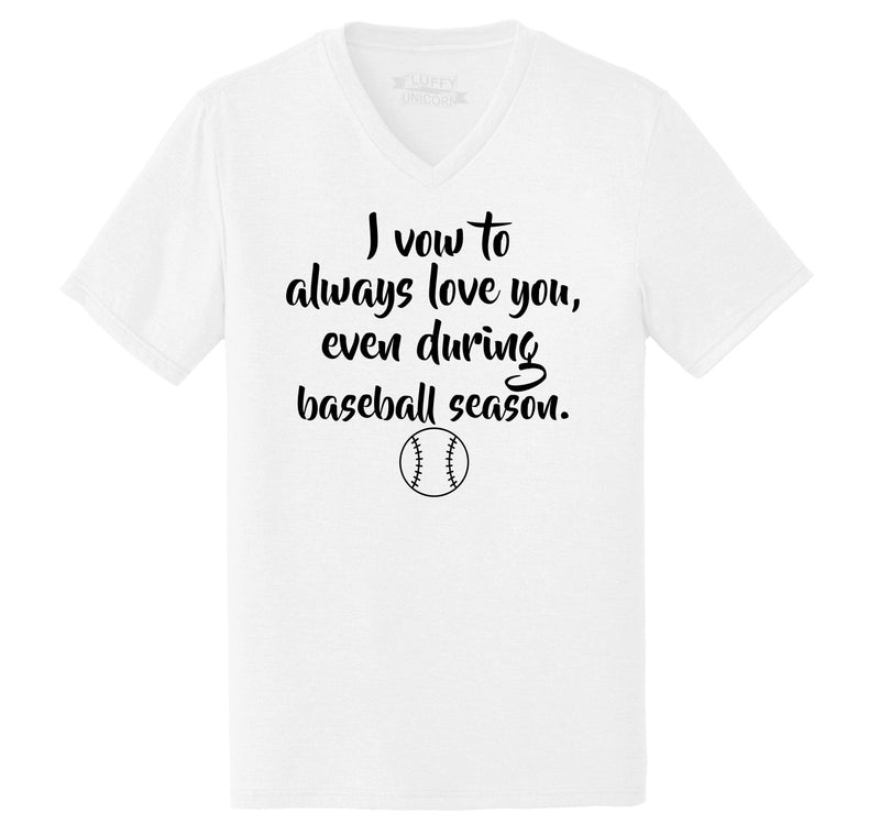Always Love You Baseball Season Mens Tri-Blend V-Neck Tee Shirt