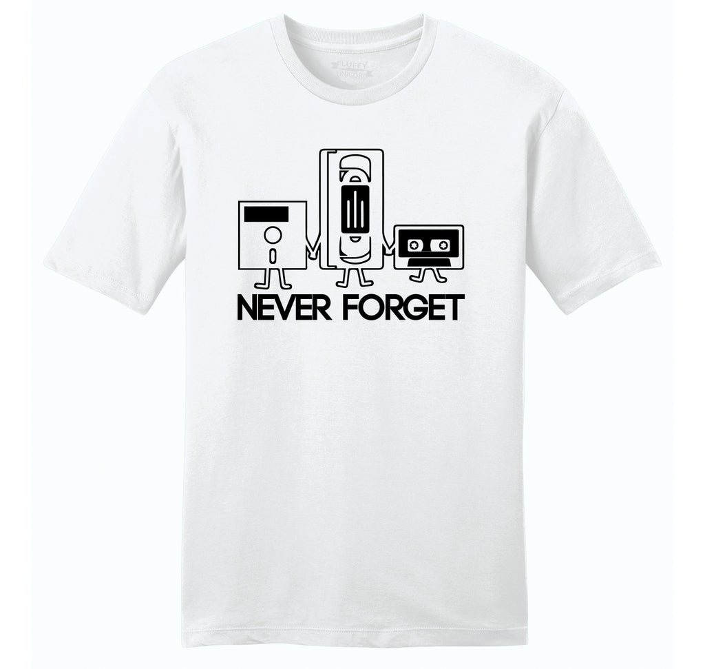 Never Forget Mens Ringspun Cotton Tee Shirt