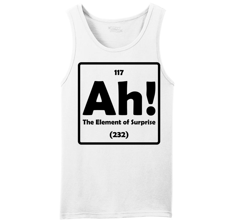 Ah! The Element Of Surprise Mens Sleeveless Tank Top
