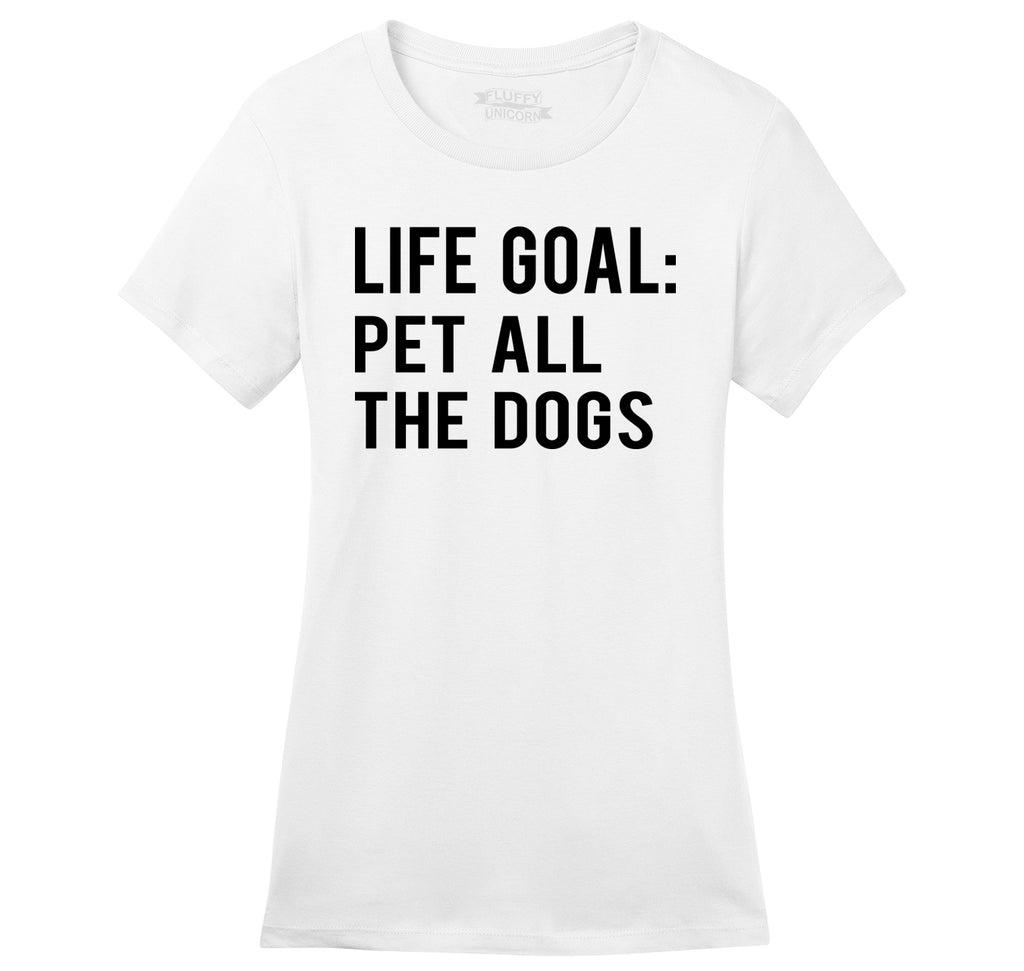 Life Goal Pet All The Dogs Ladies Ringspun Short Sleeve Tee