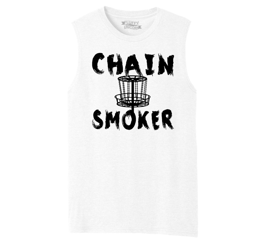 Chain Smoker Mens Muscle Tank Muscle Tee
