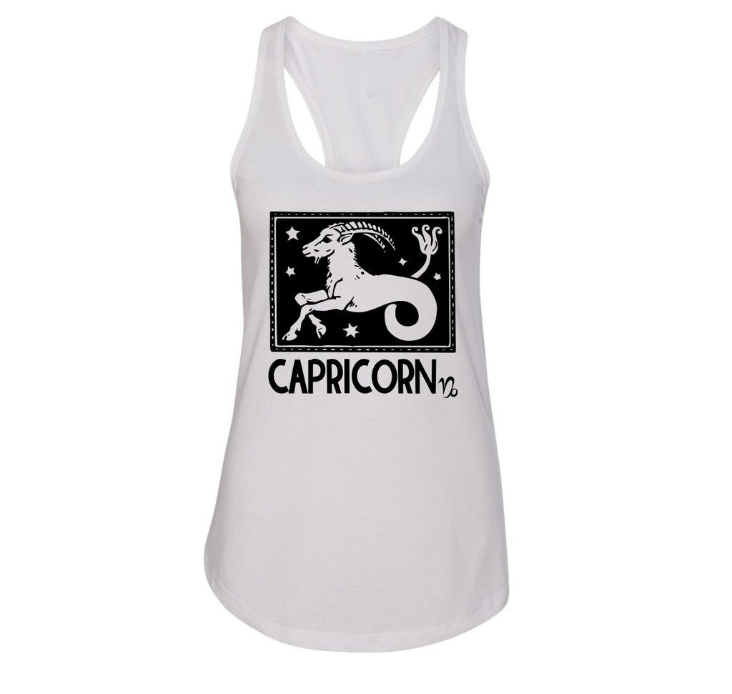 Capricorn Horoscope Ladies Racerback Tank Top
