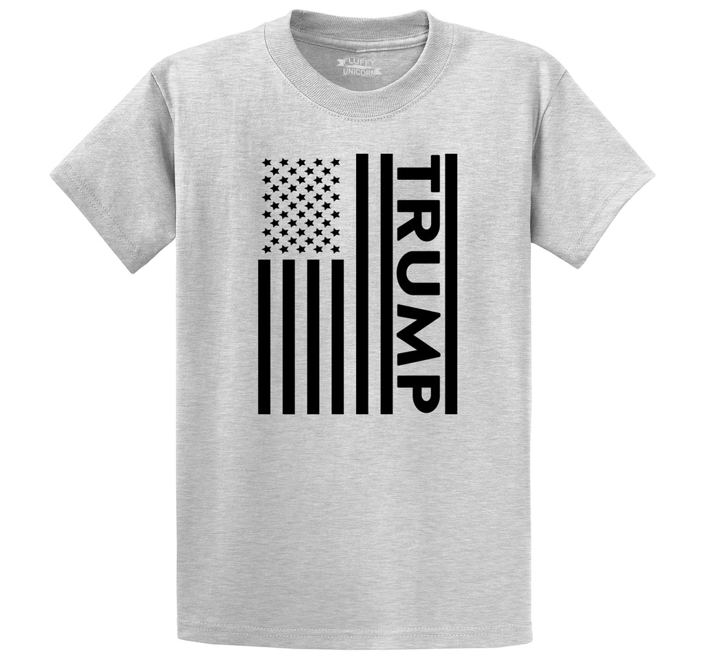 Trump American Flag Men's Heavyweight Cotton Tee Shirt