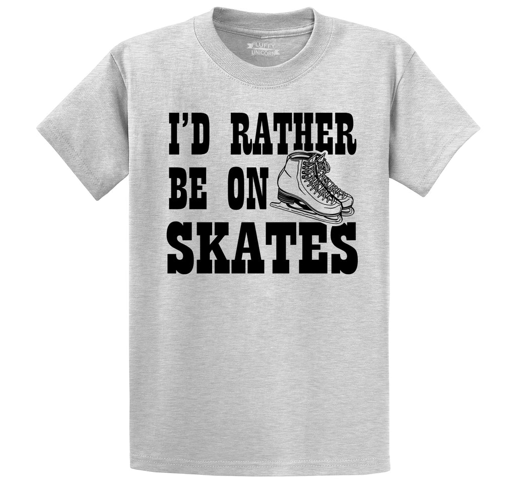 I'd Rather Be On Skates Men's Heavyweight Cotton Tee Shirt