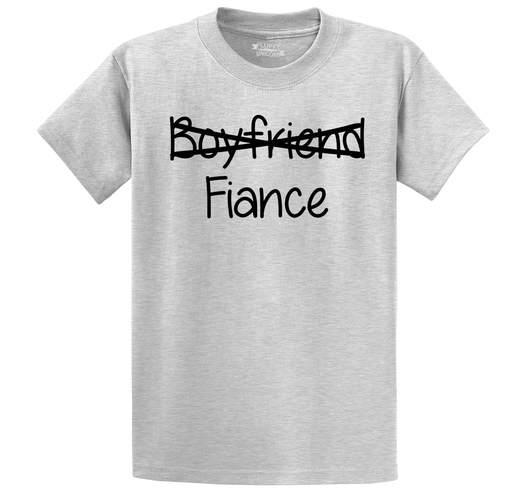 Boyfriend Crossed Out Fiance Men's Heavyweight Cotton Tee Shirt