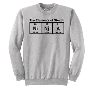 Ninja The Elements Of Stealth Crewneck Sweatshirt