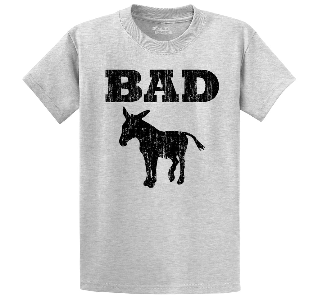 Bad Ass Funny Tee Donkey Rude Party Tee Men's Heavyweight Cotton Tee Shirt