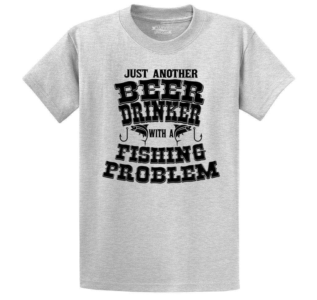 Beer Drinker With Fishing Problem Men's Heavyweight Cotton Tee Shirt