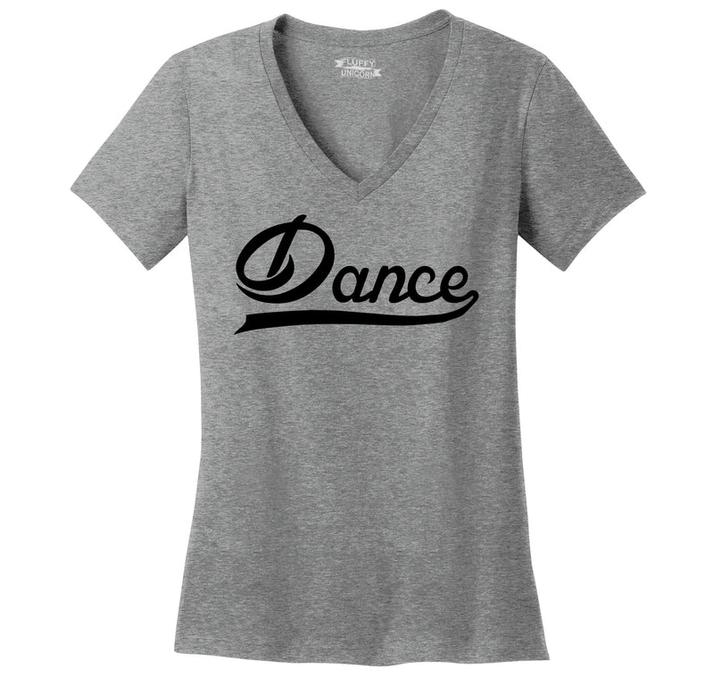 Dance Ladies Ringspun V-Neck Tee