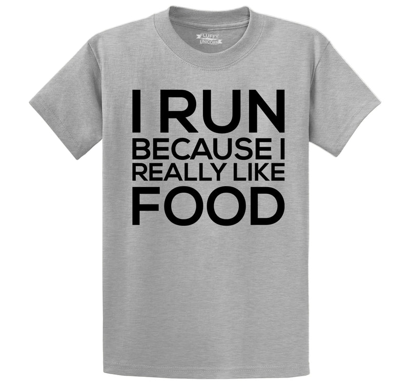I Run Because I Really Like Food Men's Heavyweight Cotton Tee Shirt