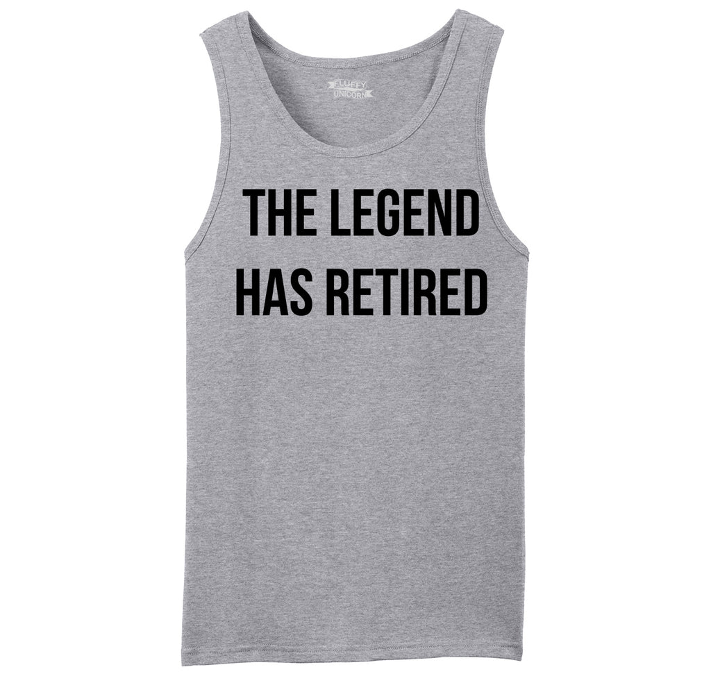The Legend Has Retired Mens Sleeveless Tank Top