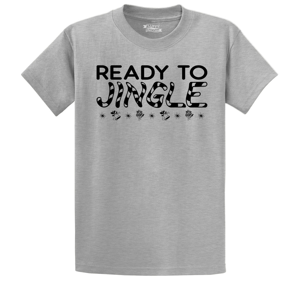 Ready To Jingle Men's Heavyweight Cotton Tee Shirt