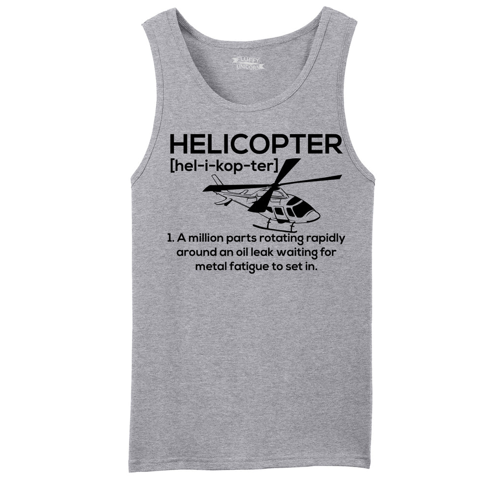 Funny Helicopter Pilot Gift Tee Mens Sleeveless Tank Top