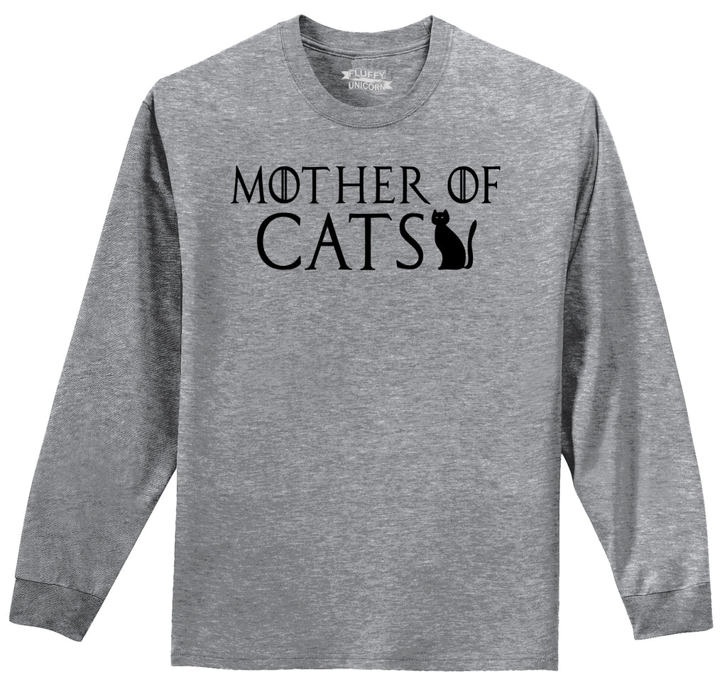 Mother Of Cats Mens Long Sleeve Tee Shirt