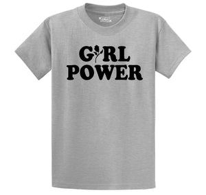 Girl Power Feminism Graphic Tee Sister Aunt Mother Girlfriend Wife Gift Tee Men's Heavyweight Big & Tall Cotton Tee Shirt