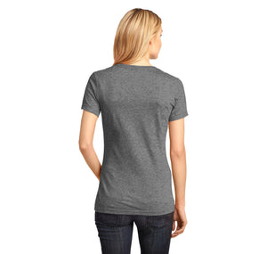 Santa OMG I Know Him Ladies Ringspun V-Neck Tee