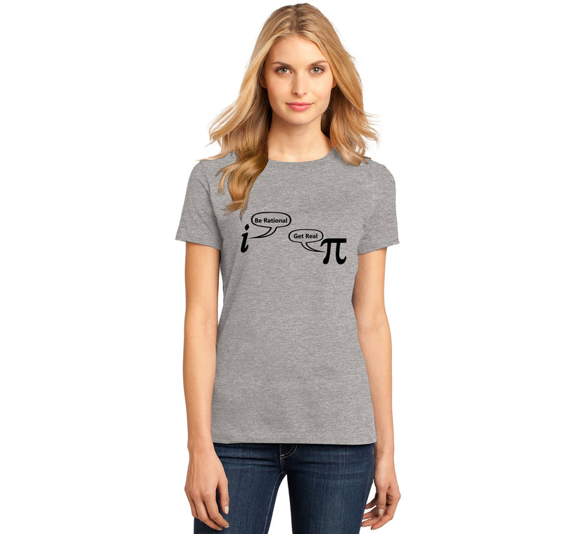 Be Rational Get Real Ladies Ringspun Short Sleeve Tee