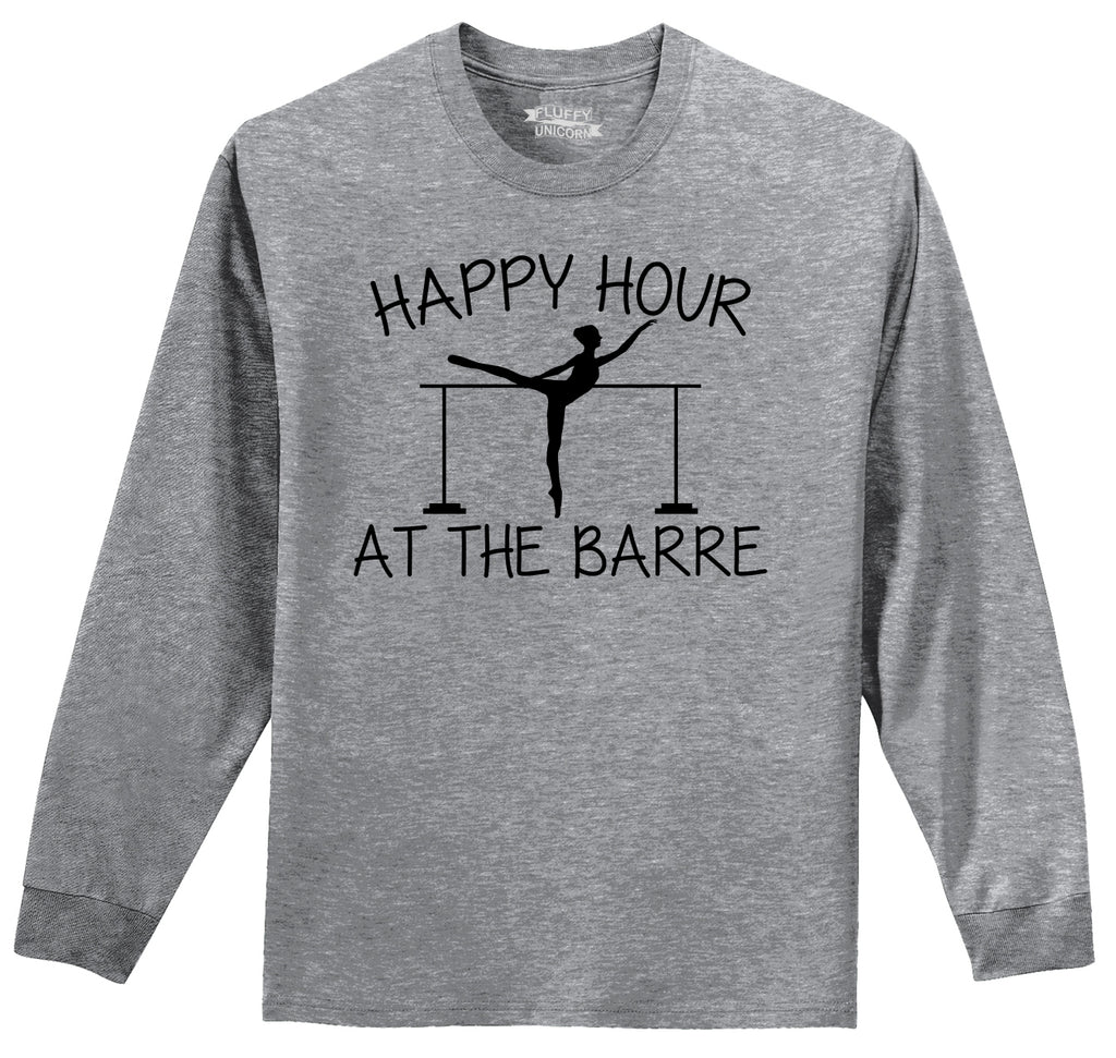 Happy Hour At The Barre Mens Long Sleeve Tee Shirt