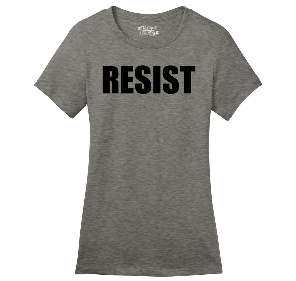 Resist Tee Anti Donald Trump Political Protest Trump Rally Tee Ladies Ringspun Short Sleeve Tee
