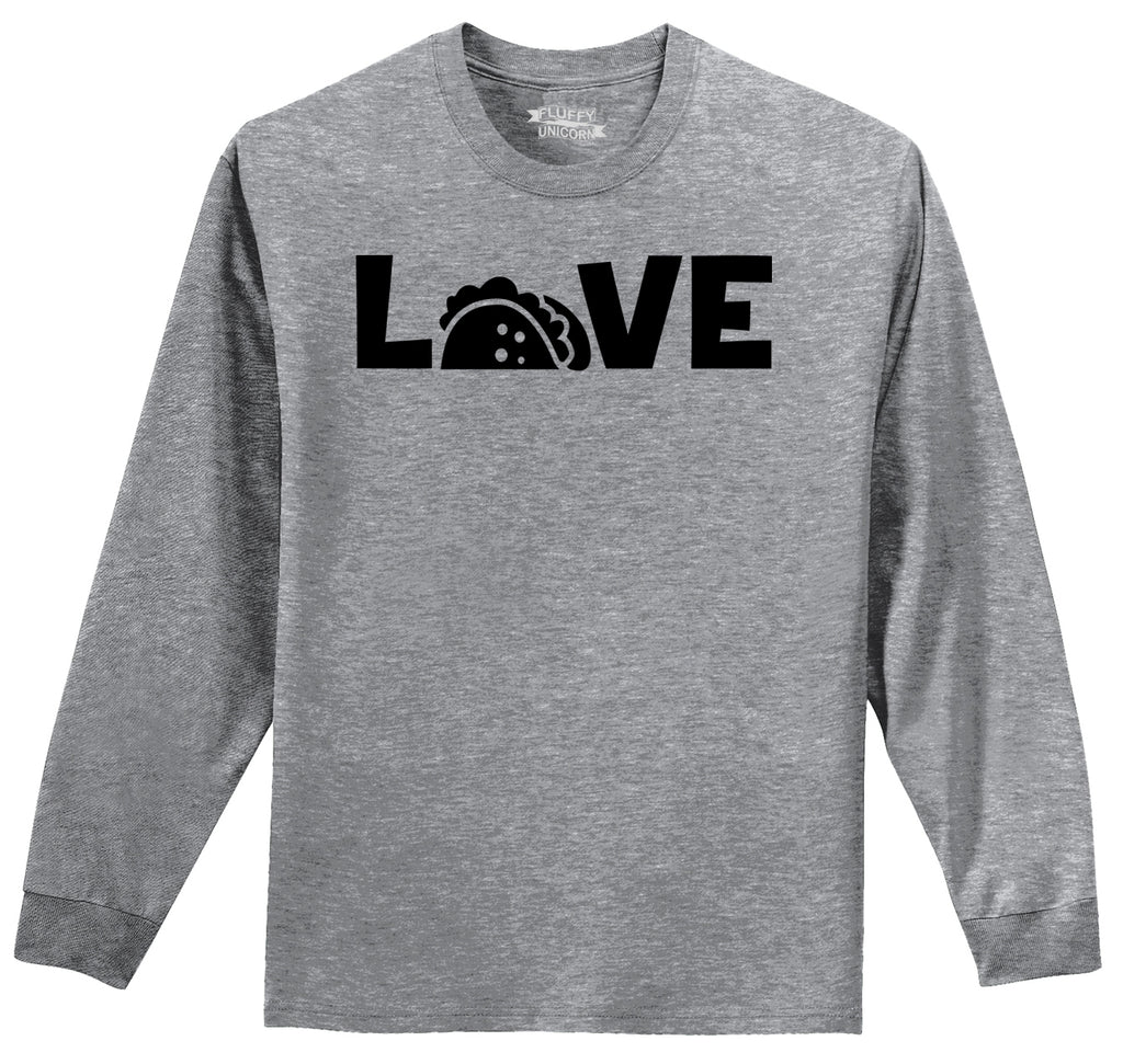 Love Tacos Mens Long Sleeve Tee Shirt