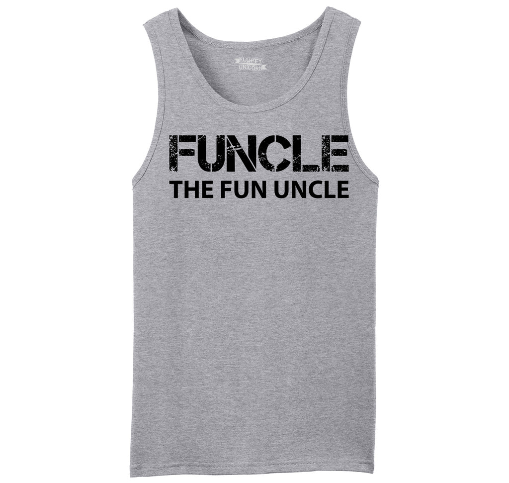 Funcle Fun Uncle Funny Tee Uncle Brother Gift Tee Mens Sleeveless Tank Top