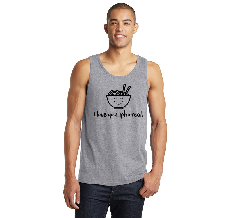 I Love You Pho Real Funny Asian Chinese Food Graphic Tee Mens Sleeveless Tank Top