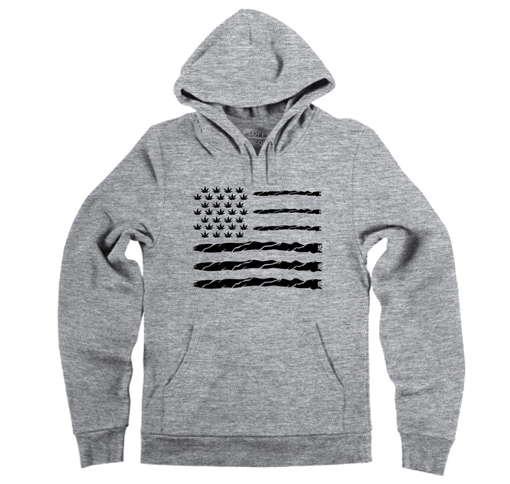 Weed Joint American Flag Hooded Sweatshirt