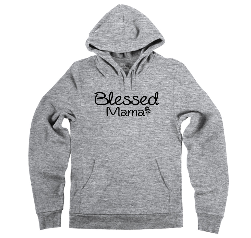Blessed Mama Tee Cute Mother's Day New Baby Wife Gift Tee Hooded Sweatshirt