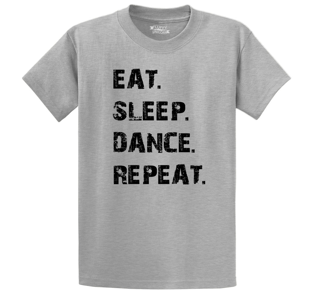 Eat Sleep Dance Repeat Men's Heavyweight Big & Tall Cotton Tee Shirt