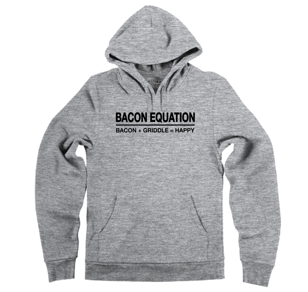 Bacon Equation Equals Happy Hooded Sweatshirt