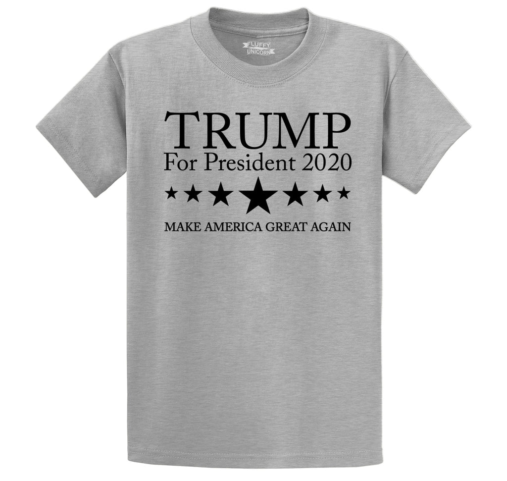 Trump For President 2020 Men's Heavyweight Big & Tall Cotton Tee Shirt