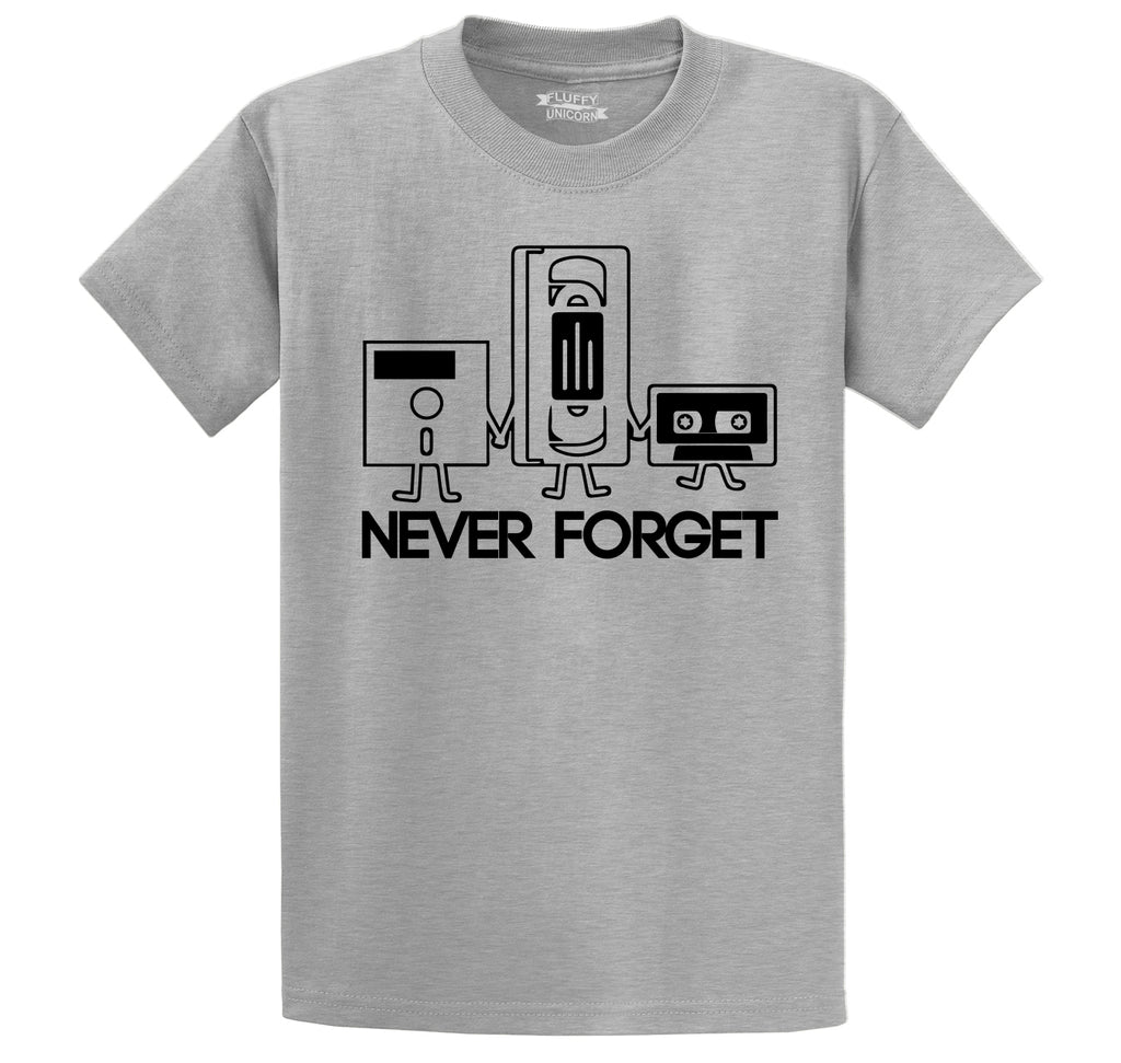 Never Forget Men's Heavyweight Cotton Tee Shirt