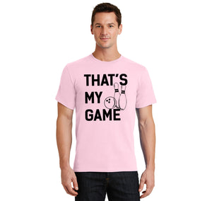 Bowling That's My Game Men's Heavyweight Cotton Tee Shirt