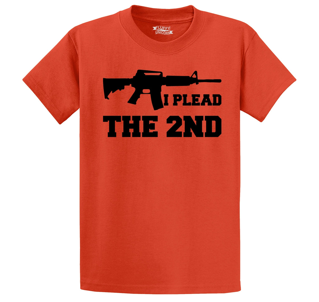 I Plead The 2nd Shirt AR15 Gun Rights Tee Men's Heavyweight Cotton Tee Shirt