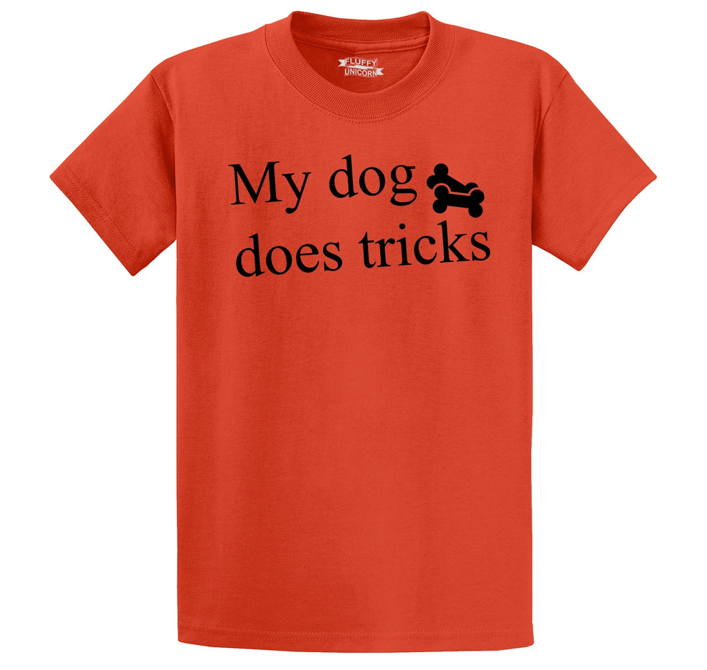 My Dog Does Tricks Men's Heavyweight Big & Tall Cotton Tee Shirt