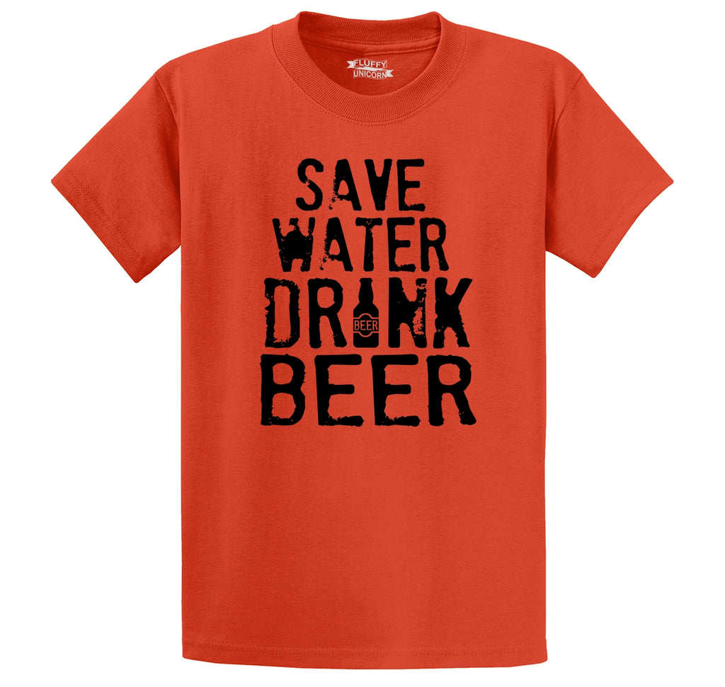 Save Water Drink Beer Men's Heavyweight Cotton Tee Shirt