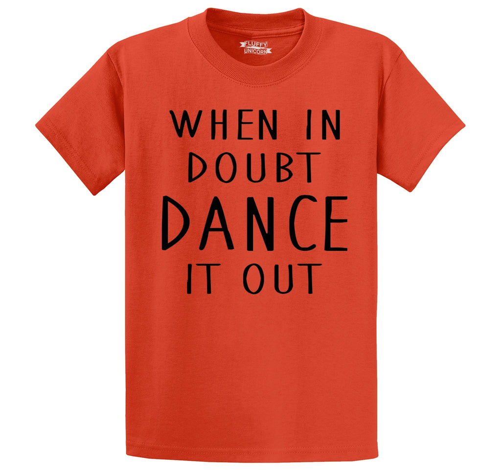 When In Doubt Dance It Out Men's Heavyweight Cotton Tee Shirt